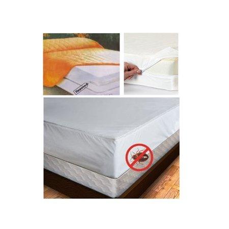 Full Size Mattress Cover Zipper Waterproof Plastic Bed Bug Dust Mites Allergens