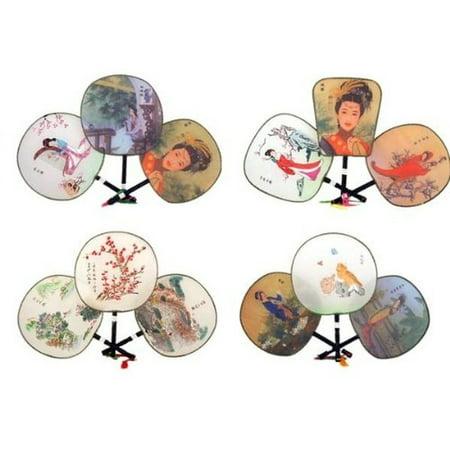 Assortment of one dozen (12) Silk Palace Fan