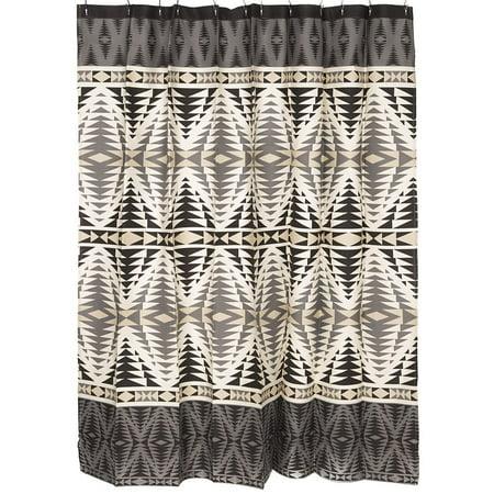 Pendleton Woolen Mills Pecos Shower Curtain Graphite