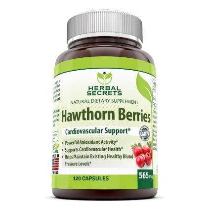 Hawthorn Herbal Supplement - Herbal Secrets Hawthorn Berries 565 Mg 120 Capsules