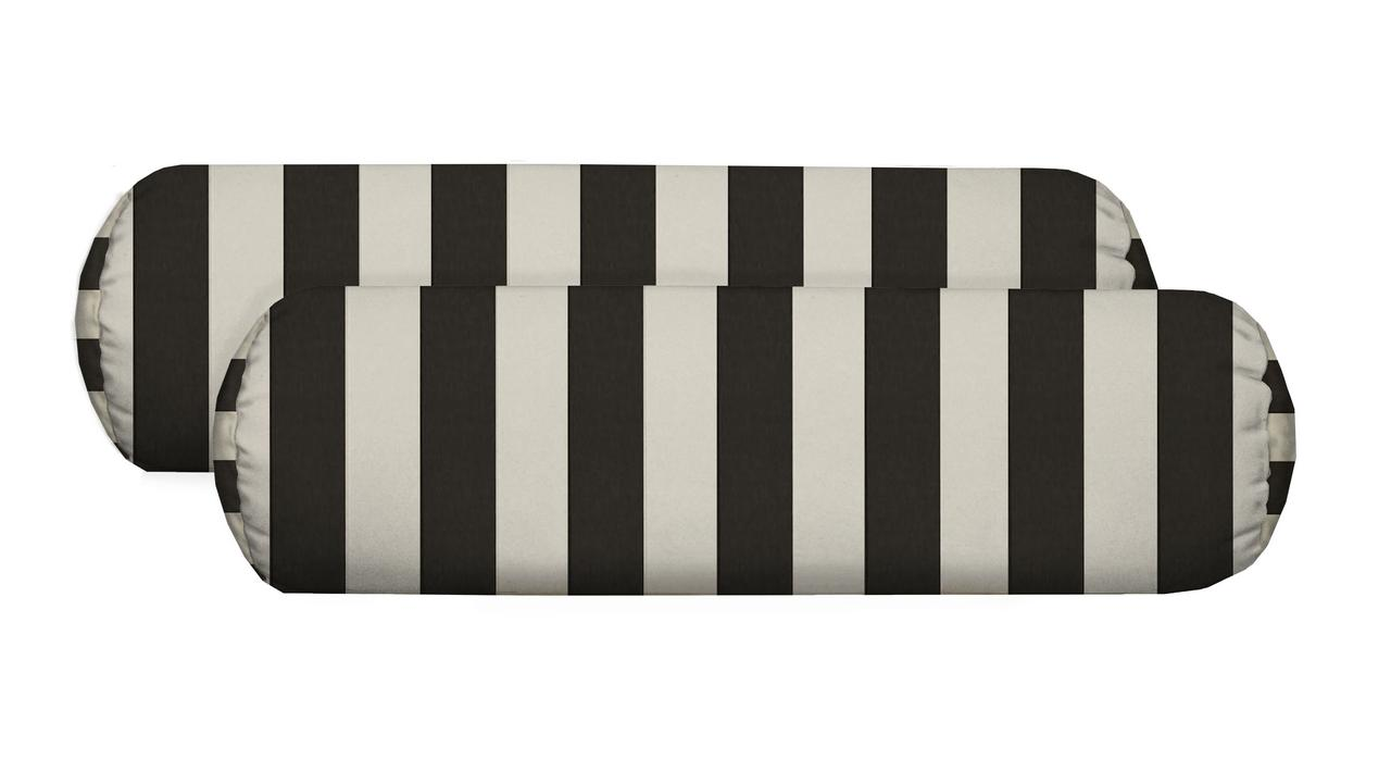 Rsh Decor Set Of 2 Indoor Outdoor Decorative Bolster Neckroll Pillows Black And White Stripe Walmart Com Walmart Com