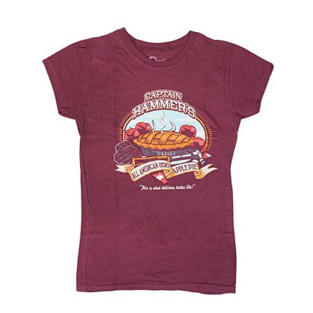 Dr. Horrible Evil Sing A Blog Captain Hammer Apple Pie Juniors T-Shirt |