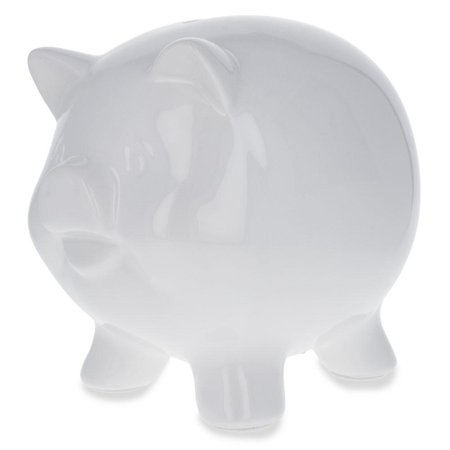 Blank Unpainted White DIY Ceramic Piggy Bank 5.75 Inches - Diy Bank
