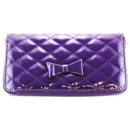 Quilted Compact Purse - Slim & Convenient Womans Wallet -