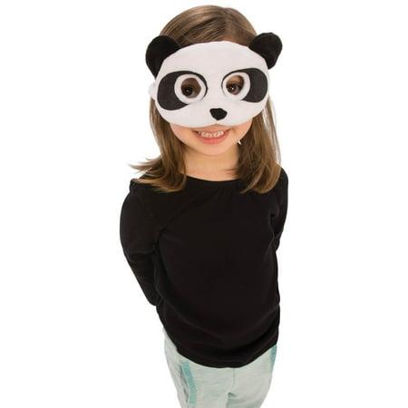 Plush Panda Eye Mask Halloween Costume Accessory (Youth Panda Costume)