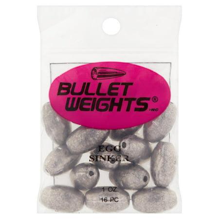 Bullet Weights® Egg Sinkers,1 oz,16 sinkers
