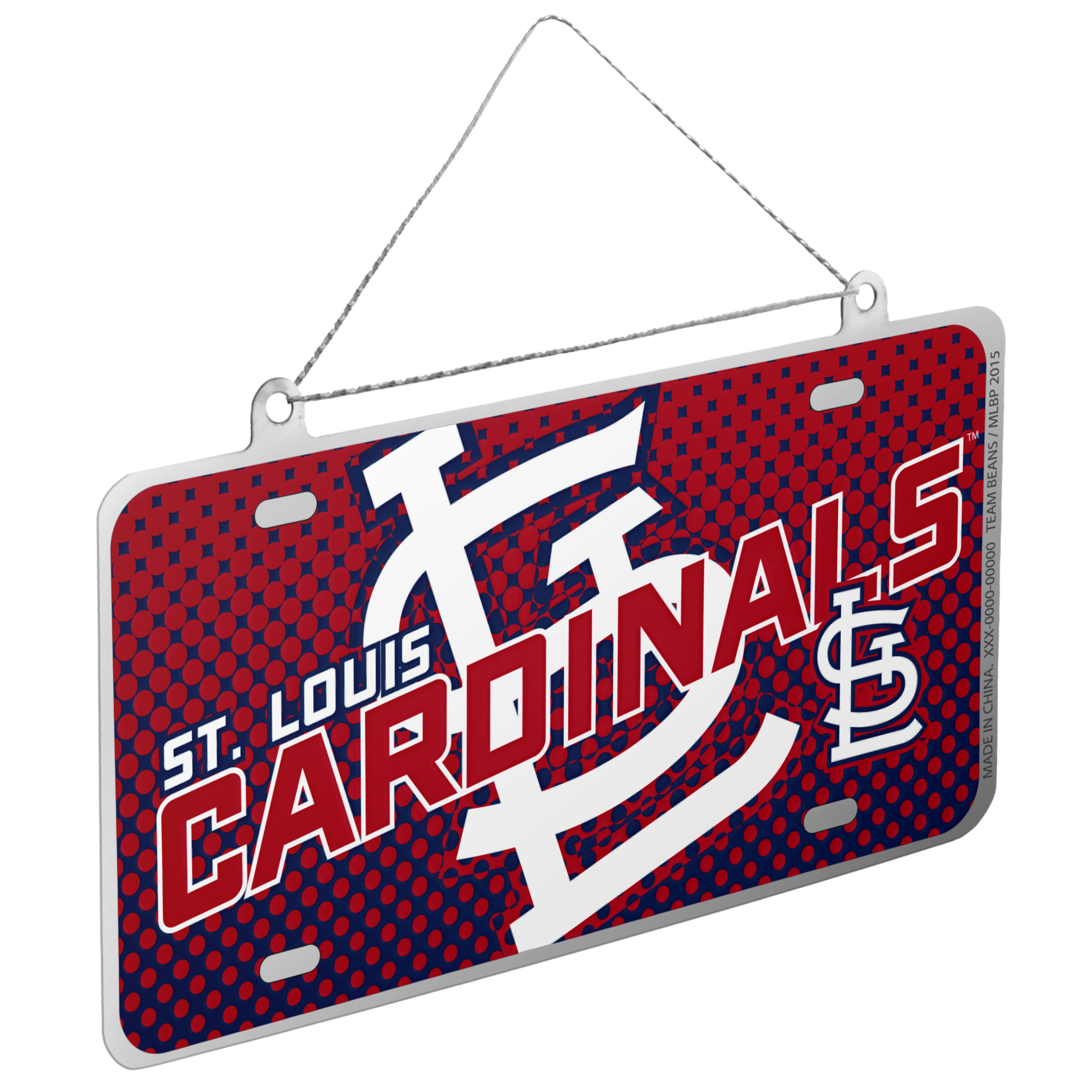 St. Louis Cardinals Official MLB 4 inch  x 2 inch  Metal License Plate Christmas Ornament by Forever Collectibles