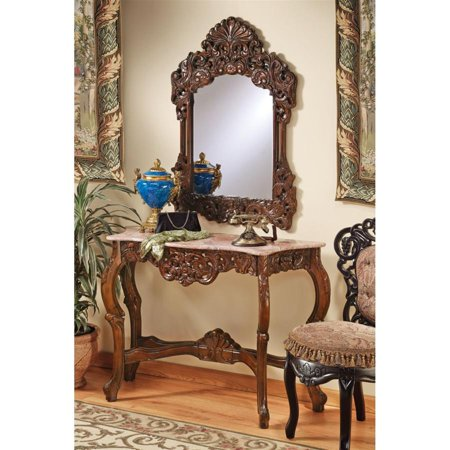 Design Toscano The Dordogne Mirror and Marble-Topped Console Table Set ()