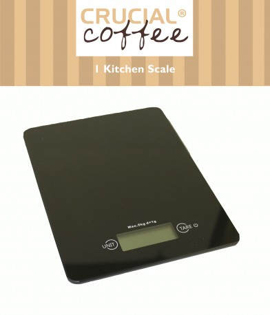 Accurate Slimline Digital Kitchen Scale by Crucial Vacuum