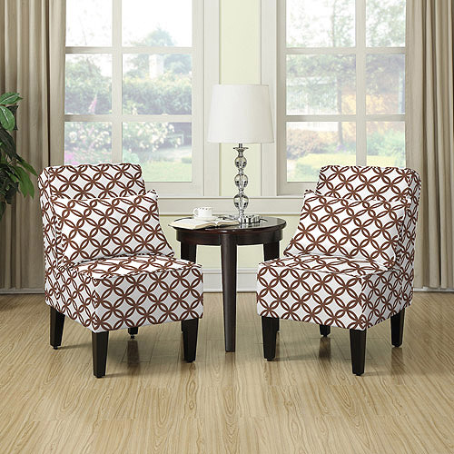 Dani Armless Accent Chair, Set of 2, Harmony Brown by Handy Living