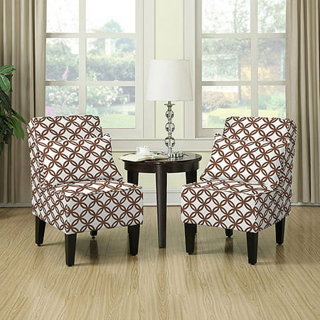 Miraculous Dani Armless Accent Chair Set Of 2 Harmony Brown Alphanode Cool Chair Designs And Ideas Alphanodeonline