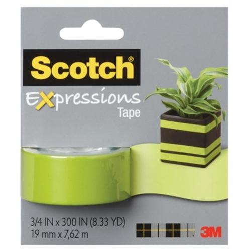 3M Scotch Expressions Magic Removable Tape, Green