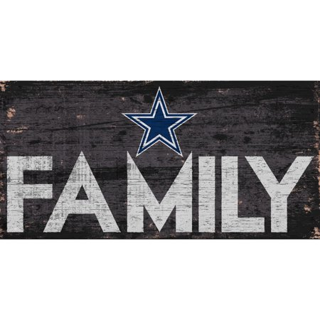 Dallas Cowboys 6'' x 12'' Family Sign - No Size Dallas Cowboys Cabinet Style Wood