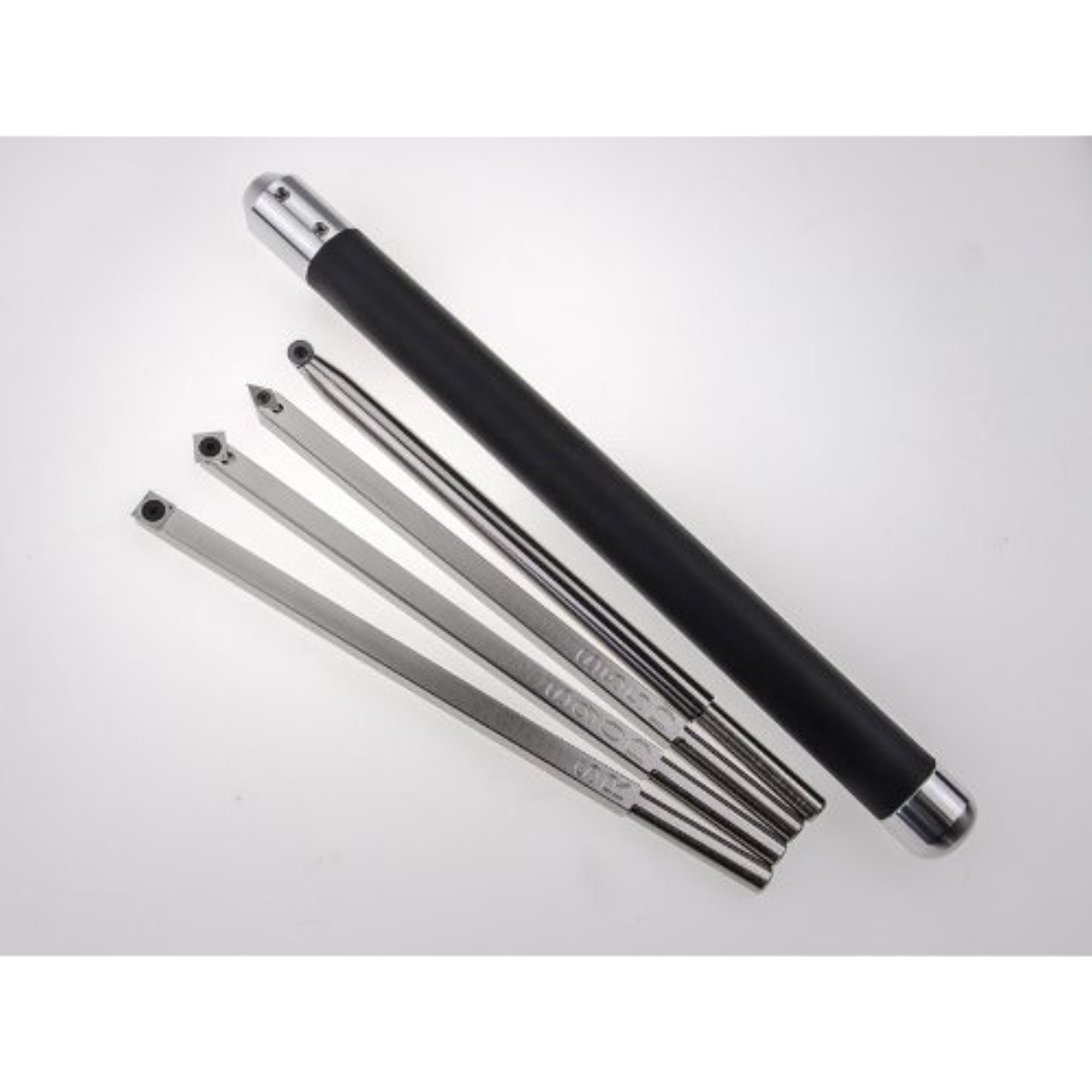 Package of 4 Simple Carbide Simple Wood Turning Tools with Interchangeable Lathe Tool Handle
