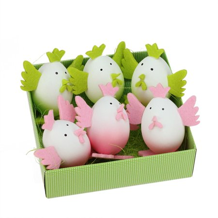 Northlight Seasonal Felt Easter Egg Chicken Spring Figure Decoration (Set of 6) (Easter Egg Chicken)