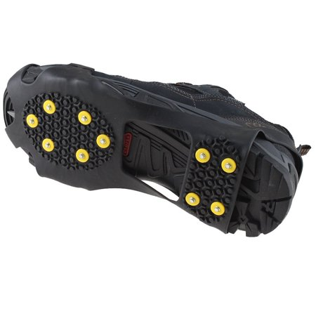 AGPtek Anti Slip Grip Shoe Covers Overshoes Snow Shoes Crampons Cleats for Ice (Best Shoes For Ice Grip)