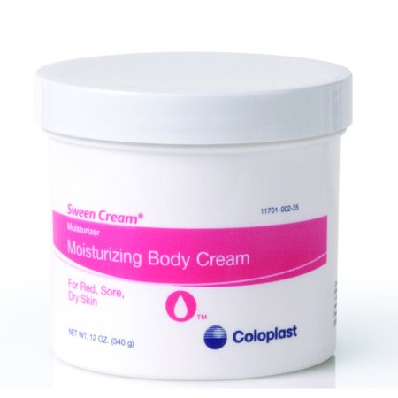 Sween Cream Jar - Coloplast Sween Moisturizing Cream, Non-Occlusive, 12 oz ''12 oz/339 g Jar, 1 Count'' 4 Pack