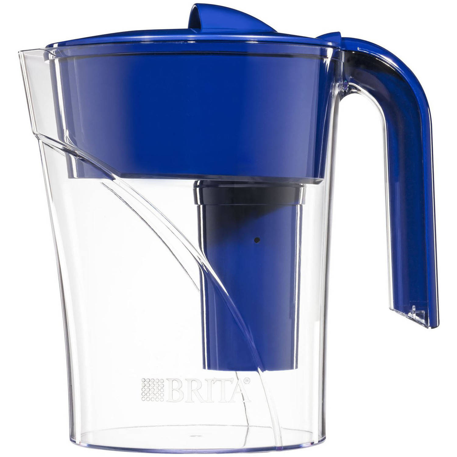 Brita Mist Water Pitcher with 1 Filter, BPA Free, Dark Blue, 6 Cup