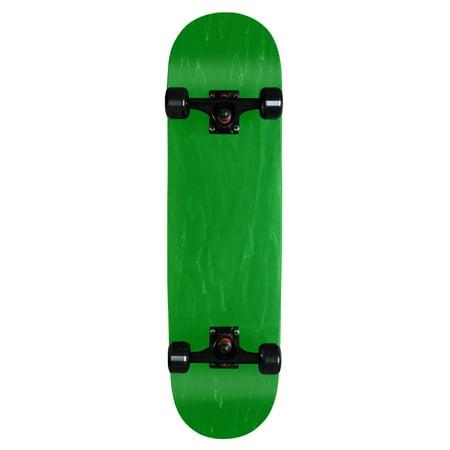 Blank Pro Complete Skateboard Stained Green 7.75 Black Wheels Black