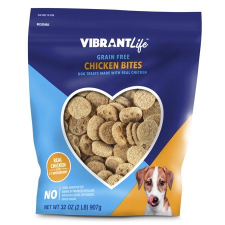 vibrant life chicken bite dog treats grain free 32 oz. Black Bedroom Furniture Sets. Home Design Ideas