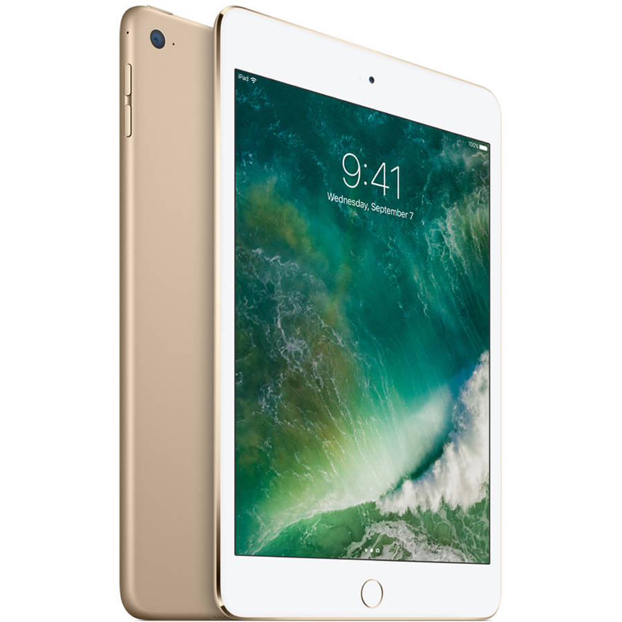 """Certified Refurbished Apple iPad mini 4 with WiFi 7.9"""" Touchscreen Tablet Computer Featuring iOS 10 Operating System, Gold"""