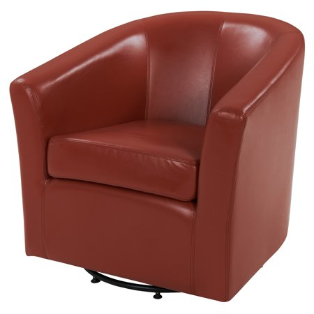 Swell Hayden Swivel Bonded Leather Tub Chair Multiple Colors Ibusinesslaw Wood Chair Design Ideas Ibusinesslaworg