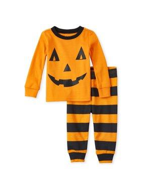 Halloween Baby & Toddler Boy or Girl, Unisex Long Sleeve Pajamas, 2 Piece Set