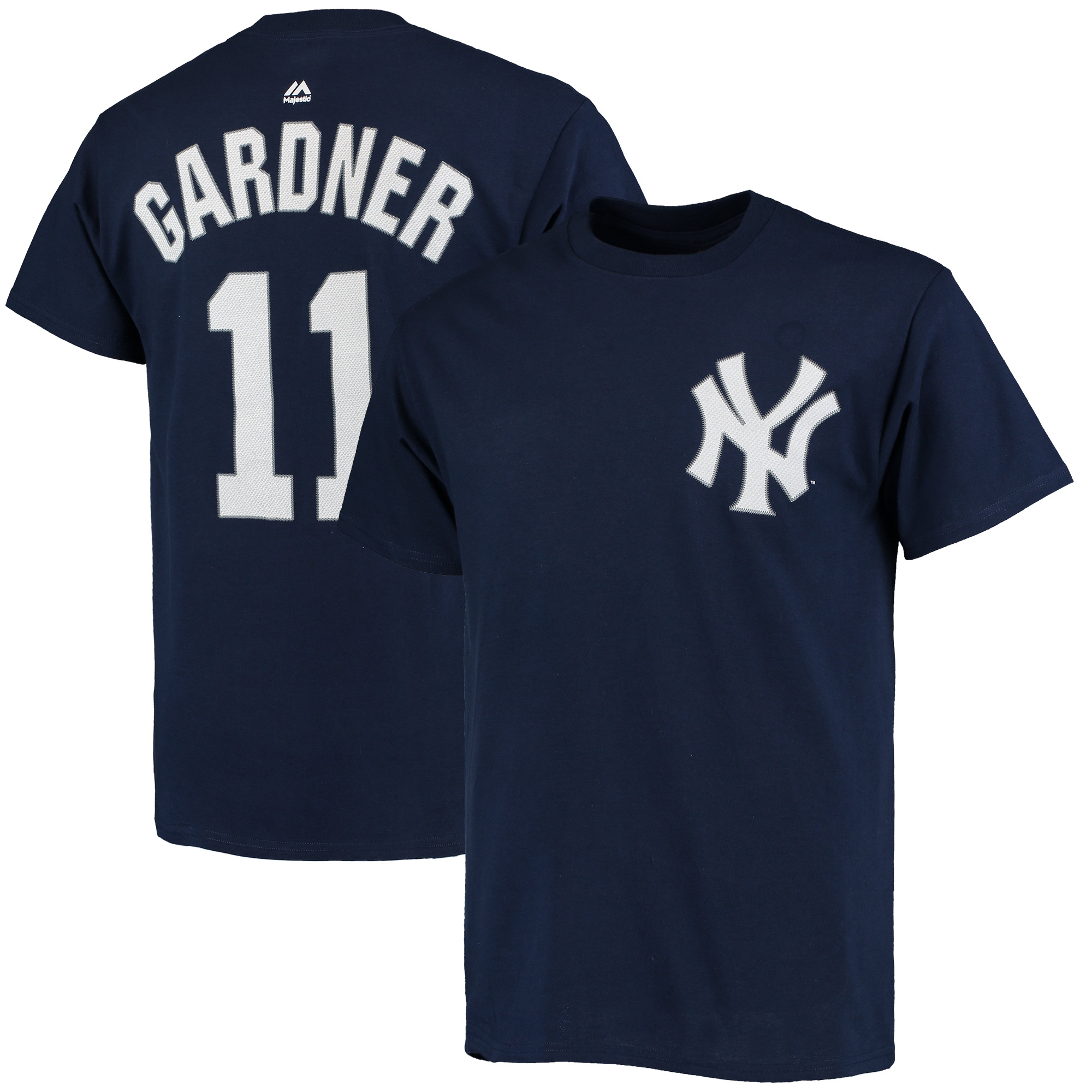 Brett Gardner New York Yankees Majestic Official Name and Number T-Shirt - Navy