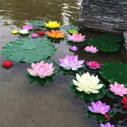 Home Artificia Lotus Flower Water Lily Wedding Pool Garden Decoration 5Pcs