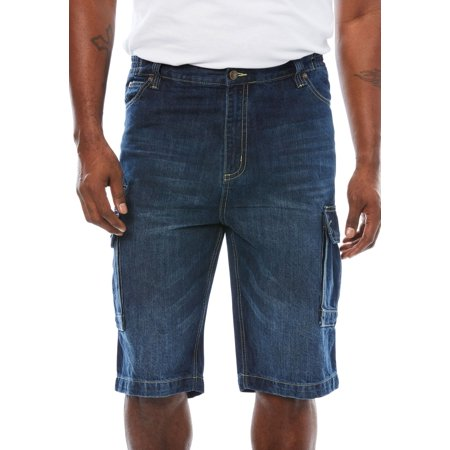 Liberty Blues Men's Big & Tall Denim Cargo Shorts