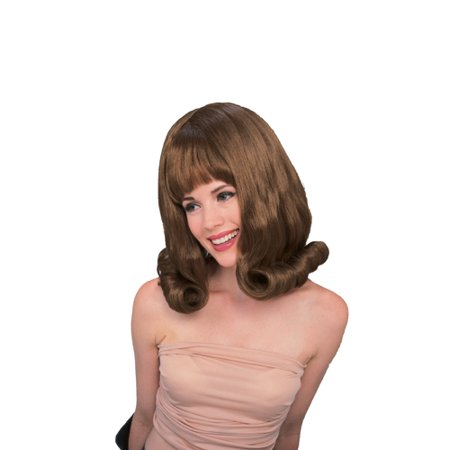 Sixties Glamour Auburn Dark Red Flip Wig for Costume