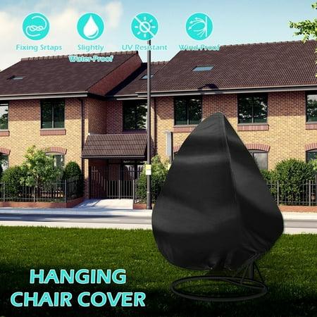 Couple Outdoor Garden Rattan Wicker Double Basket Swing Seat Chair Waterproof Furniture Cover ()