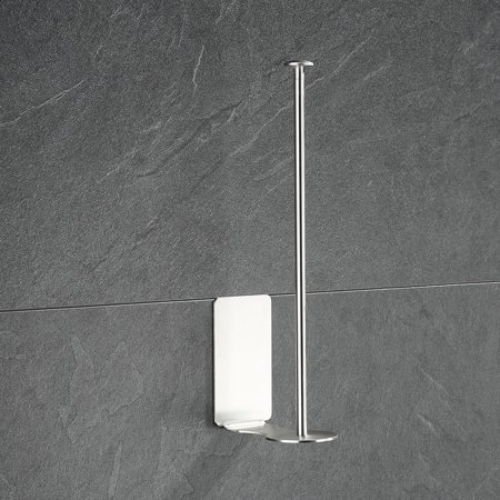 Kitchen Paper Towel Rack Wall Mount Vertical Paper Towel Holder for Kitchen Dispenser Rack for Tissue Roll - image 2 of 7