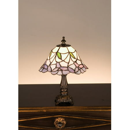 Meyda Tiffany - 31194 - One Light Mini Lamp - Daffodil Bell - Ca Purple-35pack Daffodil Bell Stained Glass