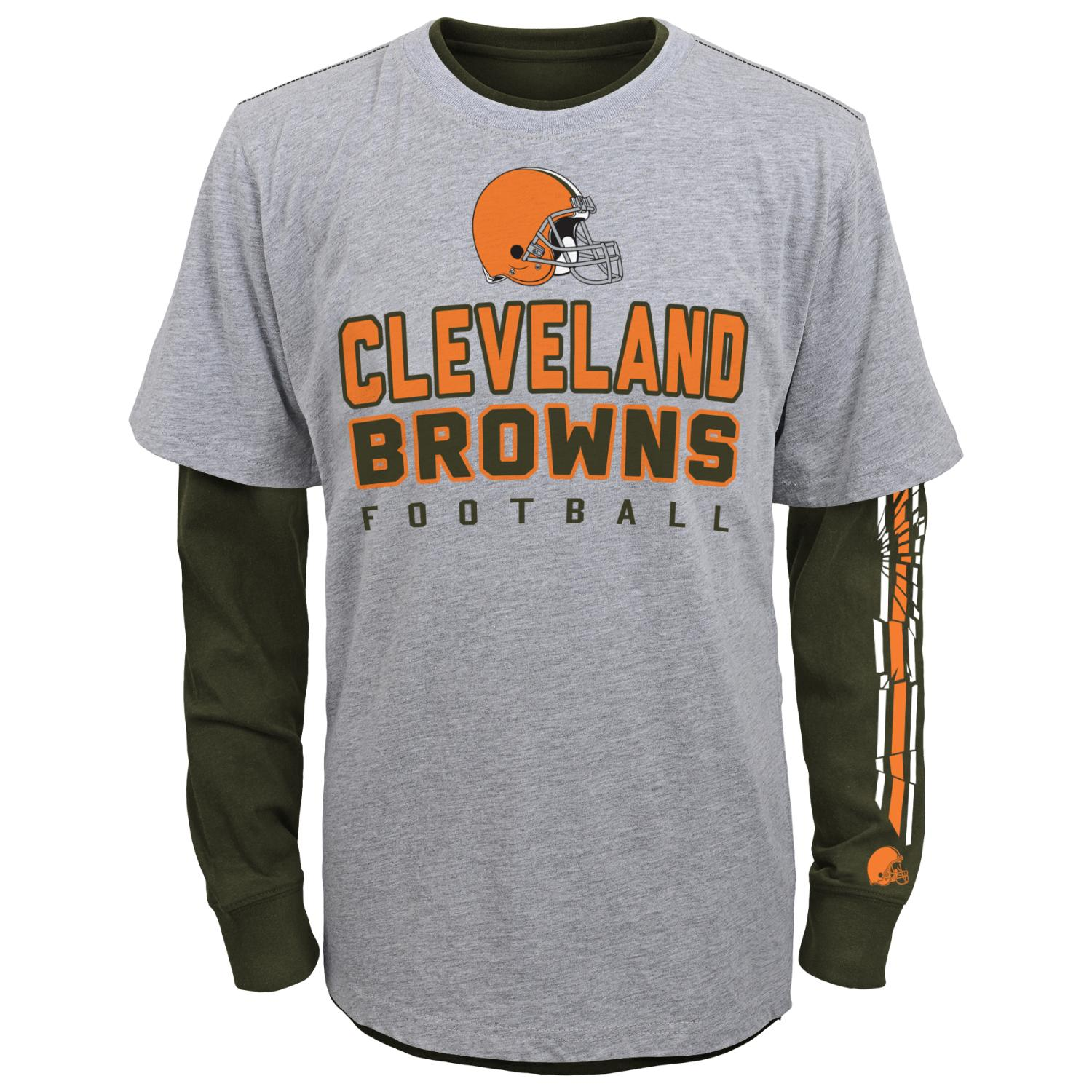 "Cleveland Browns Youth NFL ""Intact"" 3 in 1 T-Shirt Combo Set"