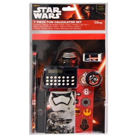 Star Wars The Force Awakens Fun Stationery Set with Calculator Set of 7 New - Star Wars Invitation