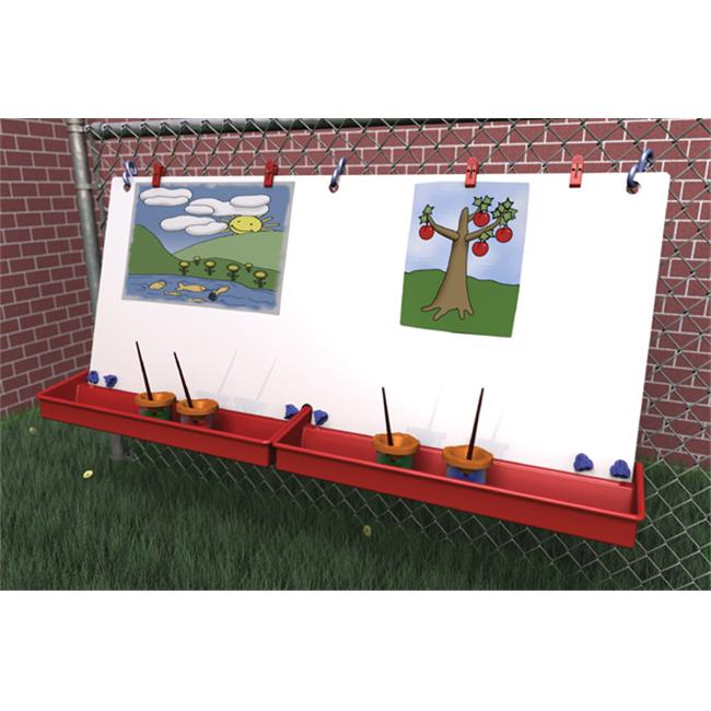 "Manta Ray S3102 46""W x 22-1/2""H Double Fence Easel"