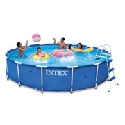 "Intex 15' x 36"" Metal Frame Swimming Pool Set with 1000 GPH GFCI Pump 