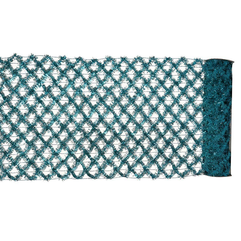 Vickerman L694212 30 ft.  x 12 inch Turquoise Tinsel Wired Ribbon