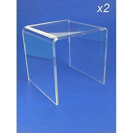Acrylic Display Stand Risers Premium 6 Inch High Set Of 2