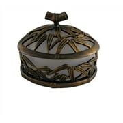 Bamboo Vanity Top Sm. Jar (Antique Bronze)