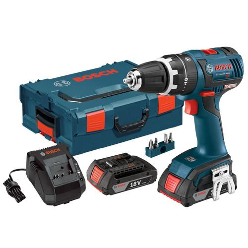 Factory-Reconditioned Bosch HDS182-02L-RT Compact Tough 18V Cordless Lithium-Ion Brushless 1/2 in. Hammer Drill Driver K (Refurbished)