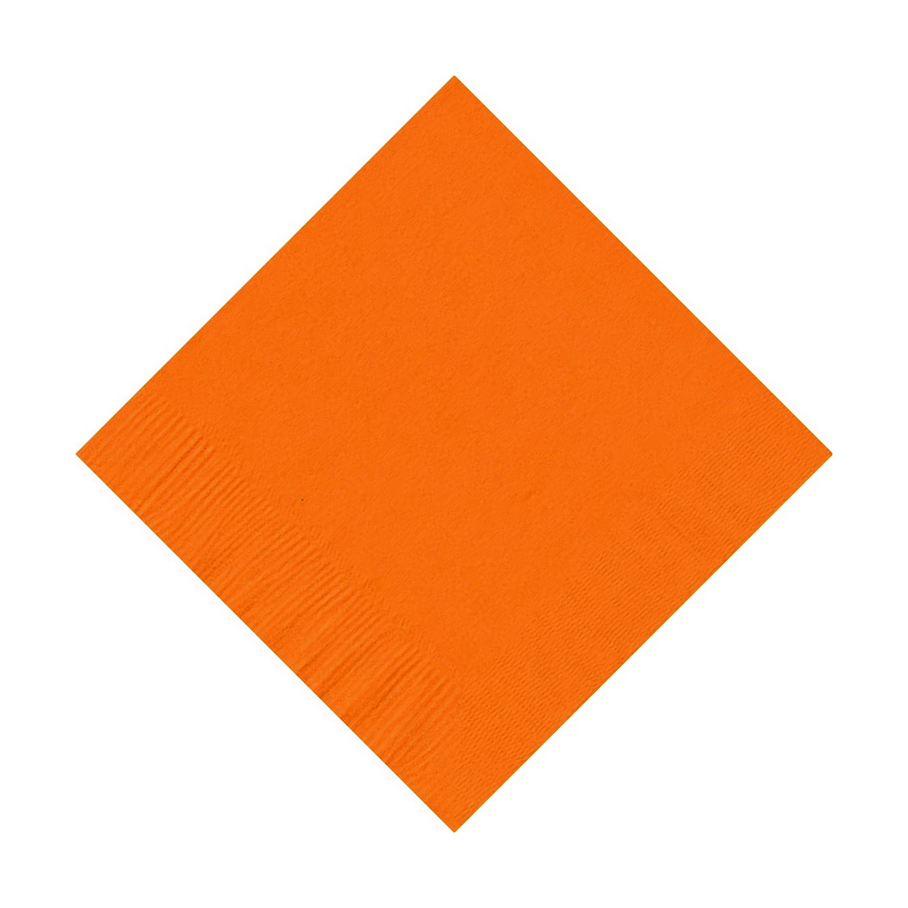 600 (12 Pks of 50) 2 Ply Plain Solid Colors Beverage Cocktail Napkins Paper Orange by CREATIVE CONVERTING