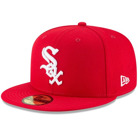 Chicago White Sox New Era Fashion Color Basic 59FIFTY Fitted Hat - Red