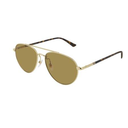Gucci GG0388SA 004 Sunglasses Gold Frame Brown Lenses 56mm