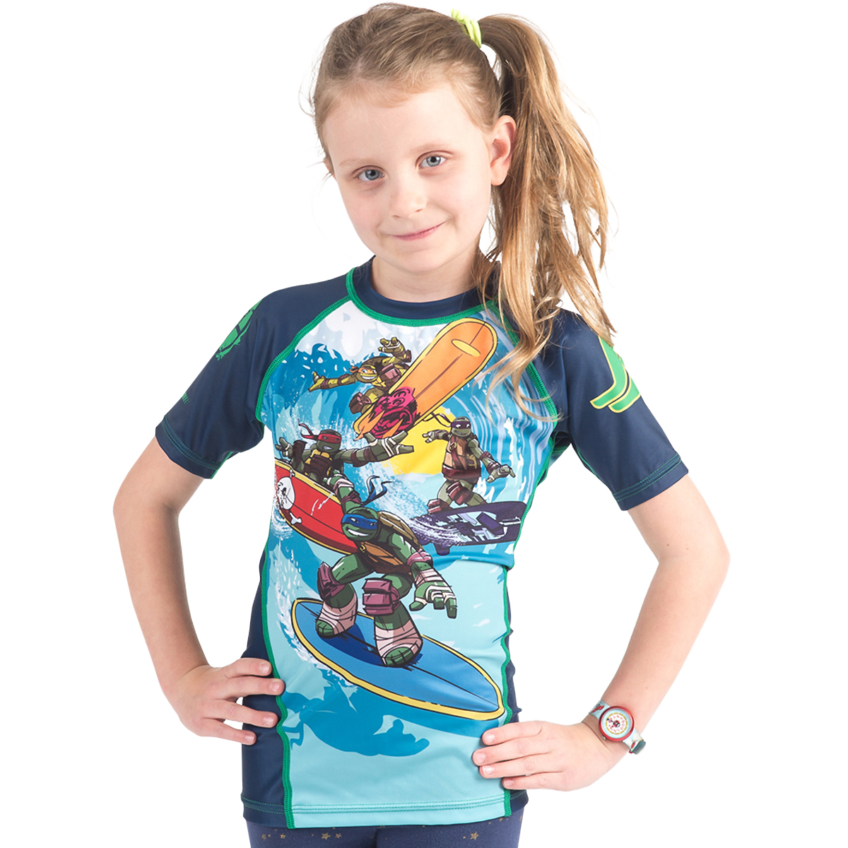 Fusion Fight Gear Kid's TMNT Sewer Surfin' Short Sleeve Rashguard