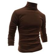 Men's Turtle Neck Full Sleeves Stretchy Slim Fit Shirt