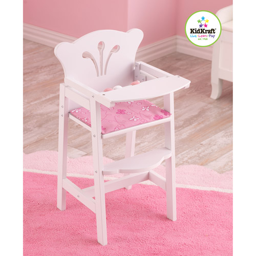 KidKraft Lil' Doll Wooden High Chair