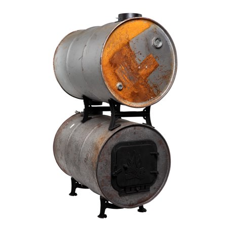 United States Stove Company BKAD500 Double Barrel Adapter Kit 55 Gallon Barrel Stove