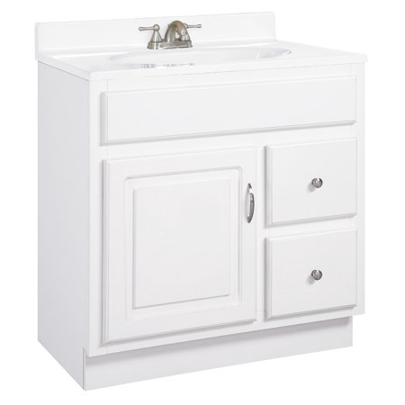 Design House 541037 Concord Unassembled 1-Door and 2-Drawer Vanity without Top, Cabinet 30